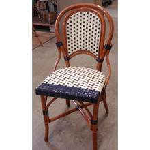 More about the 'Marais Rattan Bistro Chair Ivory w/Blue Border' product