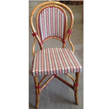 More about the 'Marais Rattan Bistro Chair Burgundy/Grey & Ivory' product