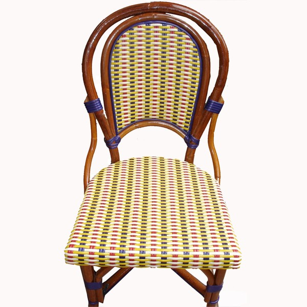 Marais Rattan Chair Ivory/Red/Blu/Yell L1H2