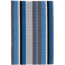 Midnight Stripe Woven Cotton Rug by Dash & Albert