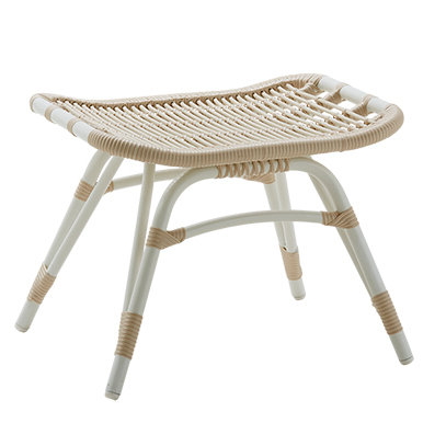 Monet Outdoor Footstool By Sika In Dove White American