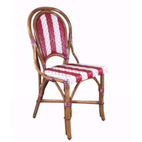 Moulin Rouge Rattan Chair - Red/Ivory