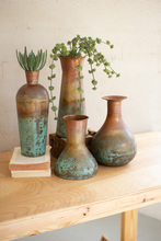 More about the 'Set Of Four Two-Toned Copper Vases' product