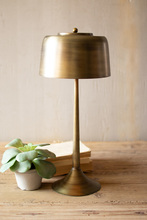 More about the 'Tall Antique Brass Table Lamp With Brass Shade' product