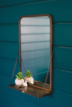 More about the 'Antique Brass Mirror With Folding Shelf' product