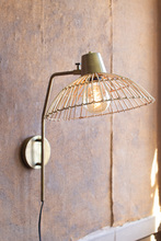 More about the 'Antique Brass Finish Wall Lamp With Rattan Shade' product