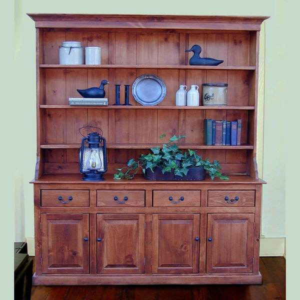 Southern Pine Carolina Hutch Base only