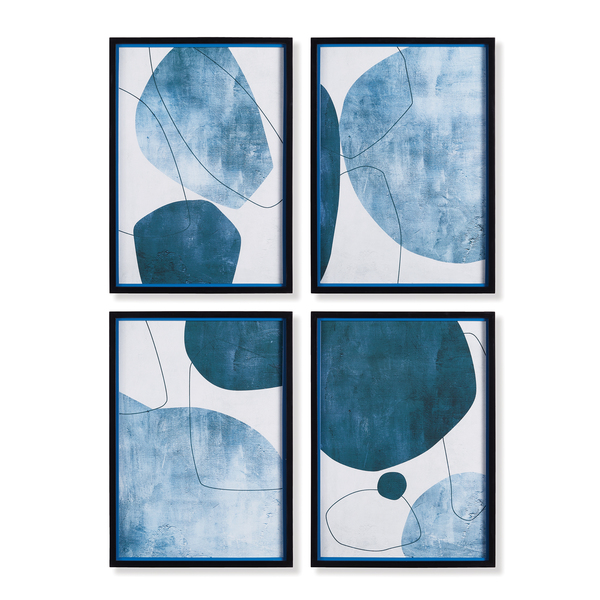 Abstract Ecliptic Prints, Set Of 4