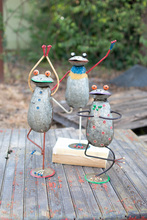 More about the 'Set Of Three Painted Iron Yoga Frogs' product