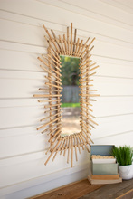 More about the 'Bamboo Sunburst Rectangle Mirror' product