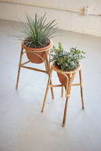 More about the 'Set Of Two Bamboo Stands With Terracotta Pots' product