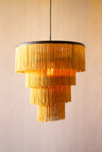 More about the 'Gold Fringe Tiered Pendant Light' product