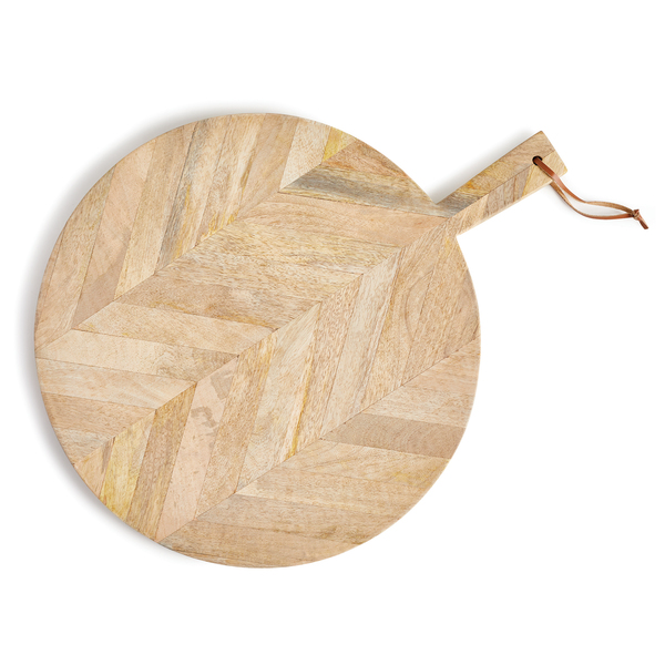 Marquetry Round Serving Board Large