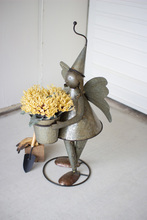 More about the 'Galvanized Metal Garden Angel With Flower Pot' product