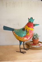More about the 'Recycled Metal Bird With Crown' product