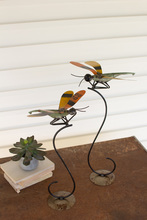 More about the 'Set Of Two Recycled Metal Dragonflies On Stands' product