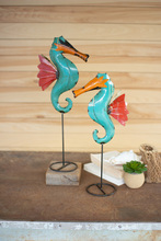More about the 'Set Of Two Recycled Metal Seahorses On Stands' product
