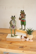 More about the 'Set Of Two Recycled Metal Frog Sightseers' product