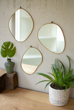 More about the 'Set Of Three Brass Framed Organic Shaped Mirrors' product