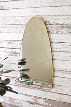 More about the 'Tall Oval Brass Framed Mirror With Shelf' product