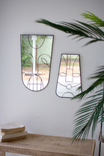 More about the 'Set Of Two Antique Black Framed Tiki Face Mirrors' product