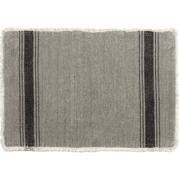 Napa Bistro Grey and Black Place mats set of 6