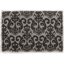 Grey and Black Bistro Placemats