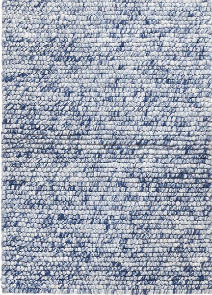 Niels Navy Hand Knotted Wool/Viscose Rug