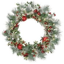 Pine wreath with red bells