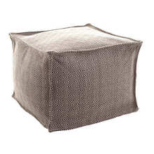 Pouf-Petit Diamond Charcoal platinum