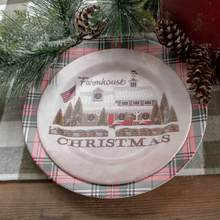 "10"" Christmas Farmhouse Plates with charger"