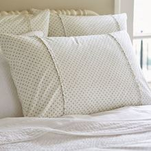 Polka Dot King Sham Aqua