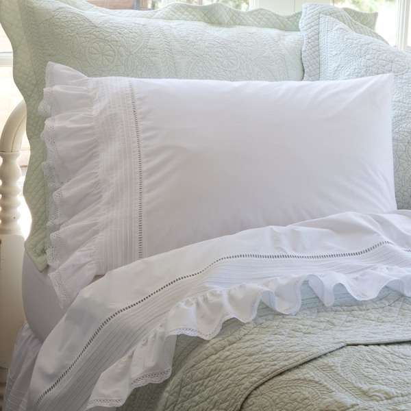 Prarie White Sheet Set