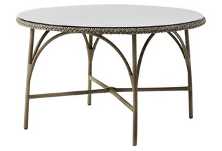 More about the 'Victoria Round Dining Table by Sika in Antique w/Glass Top' product