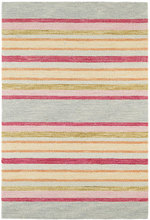 Provence Stripe Micro-Hooked Wool Rug