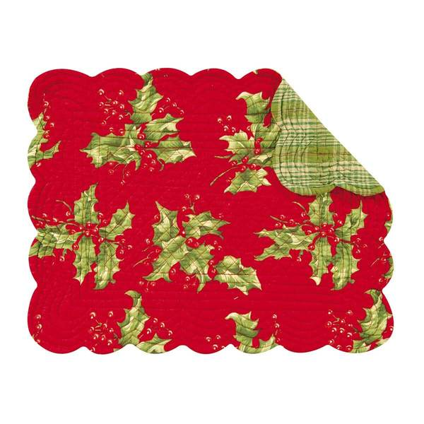 Holly Red Placemats/ SET of 4