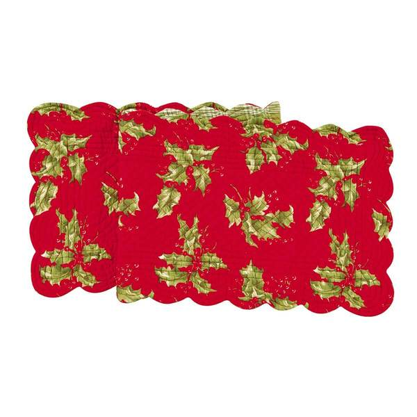 Holly Red Table Runner