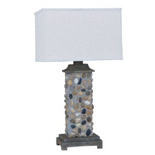 River Rock Outdoor Table Lamp
