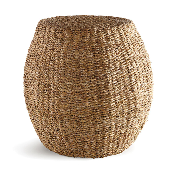 Seagrass Hourglass Pouf