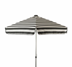 Italian 6 ft Umbrella Acrylic Stripes Red and White  - Patio Pole