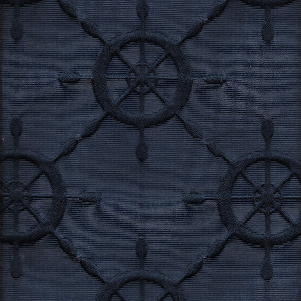 Ship's Wheel Navy fabric sample color
