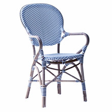 Isabell Arm Chair white with navy dots