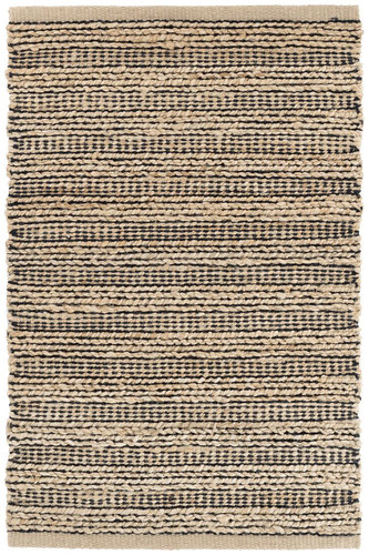 Black Woven Jute Rug by Dash & Albert