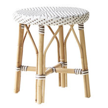 Simon Dining Stool White with Cappuccino Dots