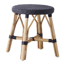 Simone Dining Stool Black with Black Dots