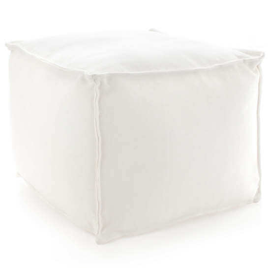 Solid White Indoor/Outdoor Pouf