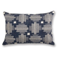 Somerset Indigo Blue and Natural Accent Pillow