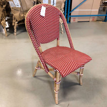 Sofie Side Chair, Burgundy Red with White Dots