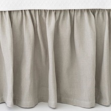 Stone Washed Linen Bedskirts Pearl Grey