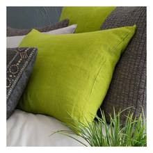 Stone Washed Linen Green sham